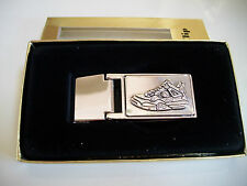 Men's New Silver Finish Shoe Money Clip With Box