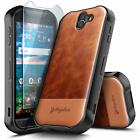 For Kyocera DuraForce Pro 2 E6900 Case Shockproof Leather Rugged Phone Cover