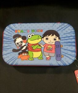 NEW Ryan's World (Blue) Molded Zippered Pencil Case Big for ALL Supply Needs