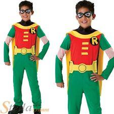 Boys Robin Teen Titans Licensed Batman Halloween Child Fancy Dress Costume