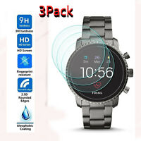 3X For Fossil Q Explorist HR Gen 4 Smartwatch Tempered Glass Screen Protector US
