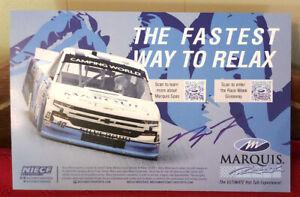 2021 RYAN TRUEX MARQUIS RACIN 40 NASCAR CAMPING WORLD TRUCK POSTCARD AUTOGRAPHED