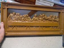 Vintage 1983 Homco Coppercraft Last Supper Lord's Supper 21.5 wall picture