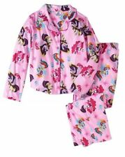 My Little Pony Girls' Pajama 2-Piece Set Button-up Size M 7/8 NWT