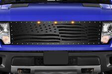 Steel Aftermarket Grille Kit for 2010-14 Ford F-150 Raptor SVT Grill WAVING FLAG