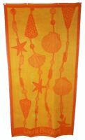 Orange Gelb Muscheln Seestern Strandtuch Jumbo Groß Badelaken 100% Baumwolle