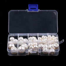79Pcs Pearl Plastic Buttons Shinning Round Crafting Beads 8 10 12 14 16 18mm