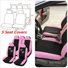 Front Rear Car Seat Covers Butterfly Embroidery Car Styling Accessories Interior