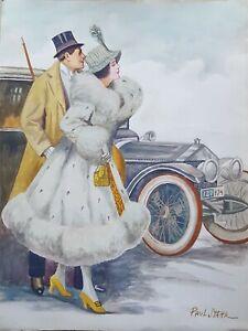 STAHR PAUL C (ATTRIB.) (1883-1953) American painter. Watercolor on paper