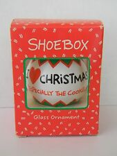 I LOVE CHRISTMAS (ESPEC. THE COOKIES!) - HALLMARK SHOEBOX - GLASS ORNAMENT 1992
