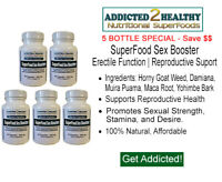 SuperFood Sex Booster Capsules Bulk - Pick 300, 600, 900 Qty - Top Selling Blend