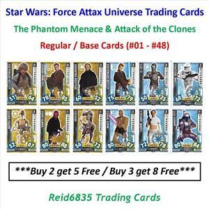 """Topps"" Star Wars: Force Attax Universe: - Regular / Base Cards (#01 - #48)"