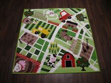 TOP QUALITY 133CMX133CM FARMYARD MATS NON SLIP BACKING HOME/SCHOOL KIDS TRACTOR