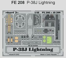 Eduard 1/48 P-38J etch for Hasegawa # FE208