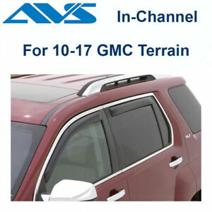 AVS Rain Guards In-Channel Window Vent Visor 4Pc For 10-17 GMC Terrain - 194167