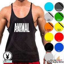 Gym Singlets - ANIMAL - Men TankTop Bodybuilding Stringer Workout Fitness D574