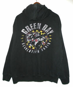 GREEN DAY Hoodie Jacket VINTAGE Full Zip REVOLUTION RADIO Sweatshirt Shirt : MD