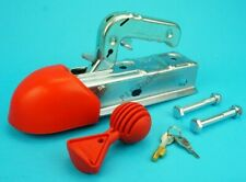 ALKO AK7 50mm Coupling Trailer Hitch with BOLTS & LOCK & Soft Dock & Safety Ball