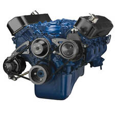 Big Block Ford Serpentine System Black Kit 429 460 Power Steering Alternator BBF
