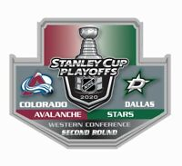 2020  DALLAS STARS STANLEY CUP NHL PLAYOFFS PIN 2ND SECOND ROUND VS. AVALANCHE
