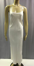 NEW NATORI $88 WARM WHITE SOLID CHARMEUSE GOWN SZ XL EXTRA LARGE