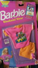 1992 NIP Disney Weekend Wear Barbie Doll Pink Shirt Orange Skirt Pink Shoes 690