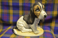 "HOMCO 1983 ""Hound Dog"" Porcelain Figure ""Masterpiece Porcelain"" Mexico"