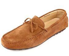 Mocassins Hommes en Cuir Cognac Daim Chaussures Belym 603