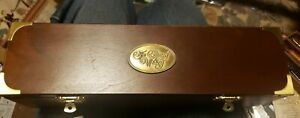 CALLIGRAPHY SET ~ The Art Of Writing Wooden Travelers Chest w Brass Corners