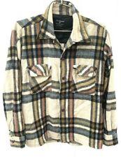 Vtg Men's CPO Jacket DiRossi Plaid Flannel Wool Blend Size M 1970s Disco Era