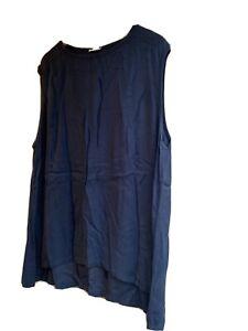 Ladies American Vintage Sleeveless Navy Tshirt Size Medium/ Large