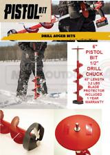 "35400 New Eskimo 6"" Pistol Bit 1/2"" Drill Chuck Ice Fishing Auger 1 Yr Warranty"