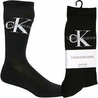 Calvin Klein Jeans Logo Soft Cotton Rib Men's Socks, Black One Size