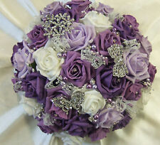 Wedding Purple Rose Bouquet