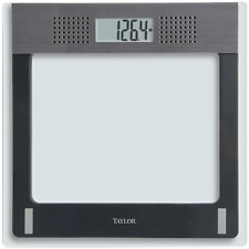 Taylor Electronic Glass Talking Bathroom Scale, 440 Lb. Capacity
