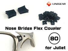 LINEGEAR Nose Bridge Flex Coupler for Oakley X-Metal Juliet - 2 pcs [NBFC80-BK]
