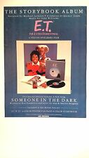 "MICHAEL JACKSON ""E.T. The Extra-Terrestrial"" Original Promo Poster Ad 1984"