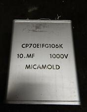 MICAMOLD 10uF 1000V PAPER OIL CAPACITOR. CP70E1FG106K. NOS.
