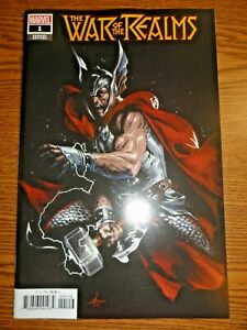 War of the Realms #1 Retailer 1:10 Dell'Otto Variant Cover Thor Aaron Marvel