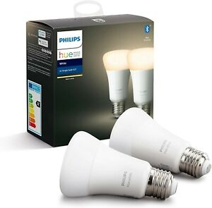 Philips Hue White Smart Bulb Twin Pack LED [E27 Edison Screw] with Bluetooth