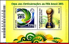 13-08 BRAZIL 2013 FIFA CONFEDERATIONS CUP, FOOTBALL/SOCCER, WORLD CUP 2014, MNH