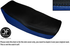 ROYAL BLUE & BLACK VINYL CUSTOM FITS KAWASAKI Z 550 F 81-85 DUAL SEAT COVER ONLY