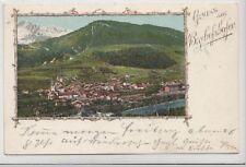 72128- Rahmen Karte Gruß aus Bischofshofen Bezirk St. Johann im Pongau 1901