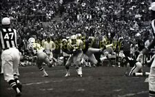 1970 San Diego Chargers @ Oakland Raiders Action Shot - Vtg Football Negative