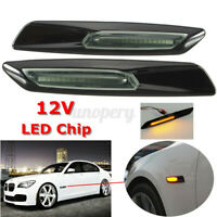 2x LED Side Marker Indicator Light For BMW E60 E82 E87 E88 E90 E91 F10 Style