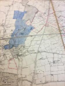 1892 Antique Map Saxmundham Suffolk mark surveyors map 1/2500