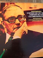 SHOSTAKOVICH  SYMPHONY NOs 1 & 2~ KIRIL KONDRASHIN Orig 1973 LP NM
