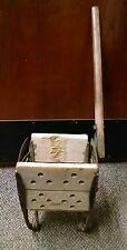 Vintage White Antique #1 Mop Wringer Cast Iron Wooden Handle, Steam Punk