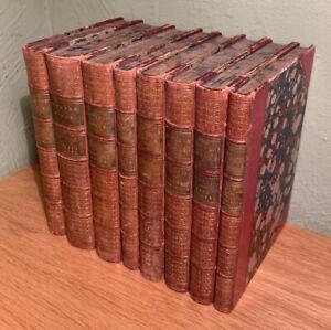 Bundle of 8 Vintage Hardback Dickens Novels Chapman & Hall Collectible - 1860's