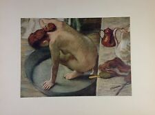 """1955 Vintage Full Color Art Plate """"THE TUB"""" by DEGAS Lithograph FAMOUS"""
